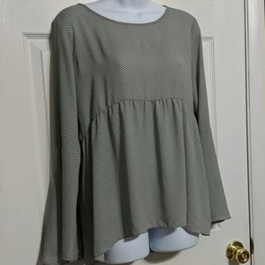Ann Taylor Loft Bell Sleeved Empire Waist Top XS